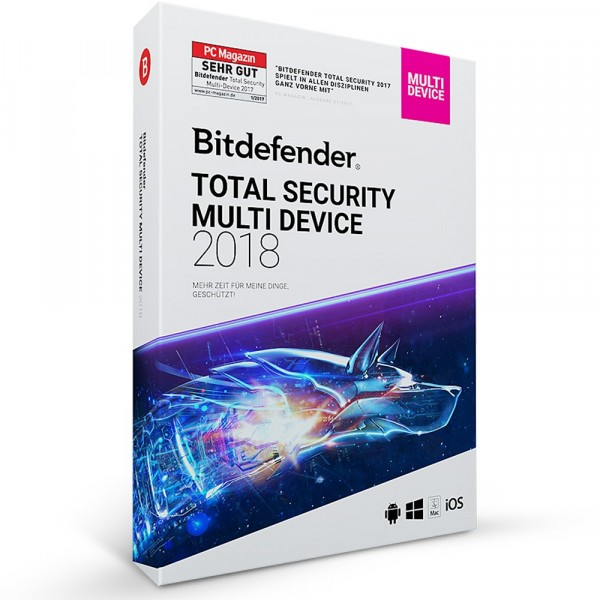 Bitdefender 2018 Total Security (5 PC -1 Year) MD
