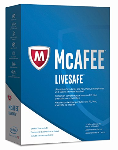 McAfee LiveSafe (50 Devices - 1 Year)