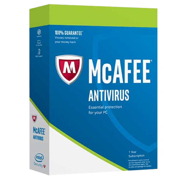 McAfee Antivirus 1 PC - 1 Year