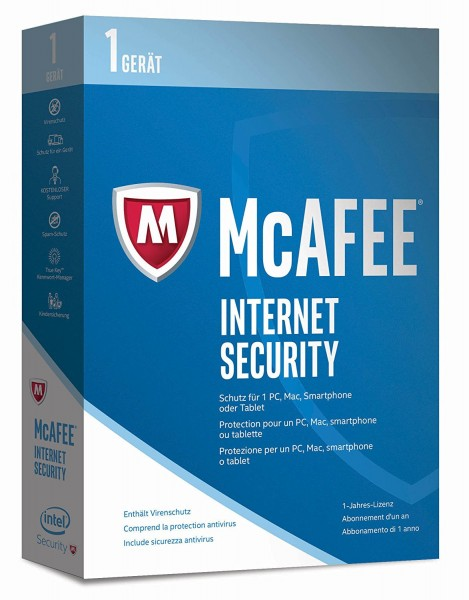 McAfee Internet Security 1 PC - 1 Year